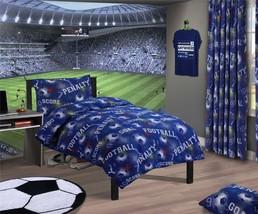 Fußball Nummern Geometrisch Blau Kingsize 6 Stück Bettwäsche Set - $65.90