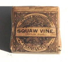 c1890 antique UNUSED SQAW VINE QUACK MEDICINE homeopathic SUPRESS URINE,... - $67.95