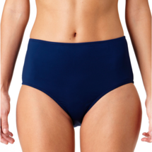 Liz Claiborne High Waist Swimsuit Bottom Size M $49 New Indigo - $21.99
