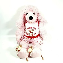 Build A Bear Pink Poodle Plush Dog Stuffed Animal Puppy Love Pajama Outf... - $32.95