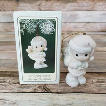 Precious Moments Christmas Ornament Bringing You A Merry Christmas Vtg 1994 - $14.85