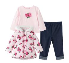 Little Me Girl's 3-pcs Set - Jacket, Long Sleeve Tee, Pants (Size: 18 Mo... - $39.99