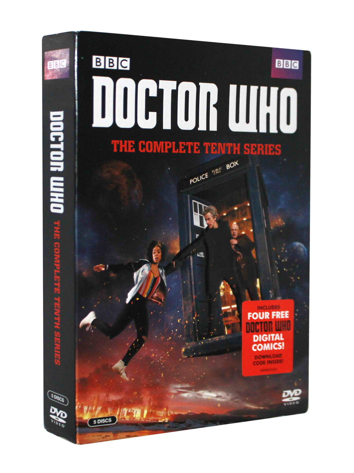 Doctor Who The Complete Series Season 10 DVD Box Set 5 Disc Free Shipping