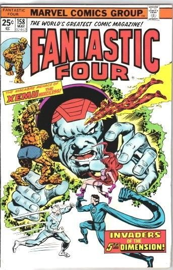 Primary image for The Fantastic Four Comic Book #158 Marvel Comics 1975 FINE+