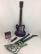 Paper Jamz Mic Guitar Musical Singing Instrument Toys Girls Pink Lot Wow... - $53.41