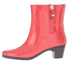 Women's Shoes Kate Spade New York PENNY Short Rain Boots Rubber Red - $99.00