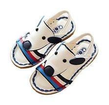 Cute Cartoon Boy's Summer Casual Beach Sandals WHITE, Feet Length 16.5CM