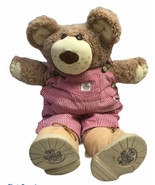 """22"""" Furskins Bear With Red And White Striped Overalls Plush - $29.69"""