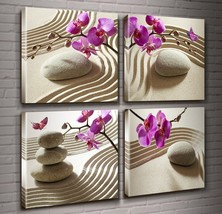 Canvas Print Wall Art-Spa Wall Decor Butterfly Orchid Painting Zen Spa P... - $30.13