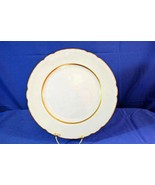 "Embassy Vitrified China Gold Trim And Accents on Verge Rim Salad Plate 8"" - $5.03"