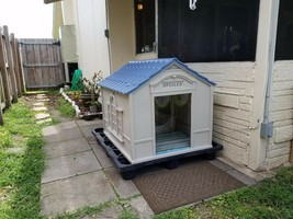 XL Large Dog Kennel OUTDOOR PET CABIN INSULATED HOUSE BIG CAGE - $95.30