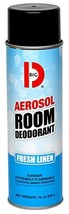 Big D 430 Aerosol Room Deodorant, Fresh Linen Fragrance, 15 oz Pack of 12 - Indu