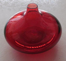 FIERY Red Hand-blown Bulbous Shaped Display Solid Glass - $35.00