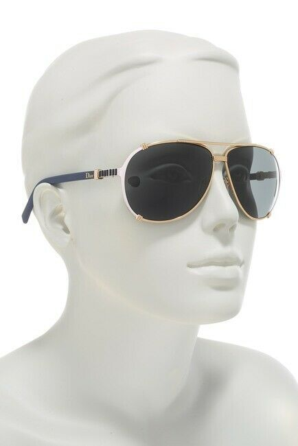 NEW Christian DIOR CHICAGO 2 Strass NB2/P9 Gold Pink Blue Sunglasses