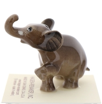Hagen-Renaker Miniature Ceramic Wildlife Figurine Elephant Cartoon Baby Walking image 4
