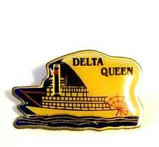 VTG Collectible Pin - Delta Queen Paddlewheel Steamboat River Boat Souve... - $9.65