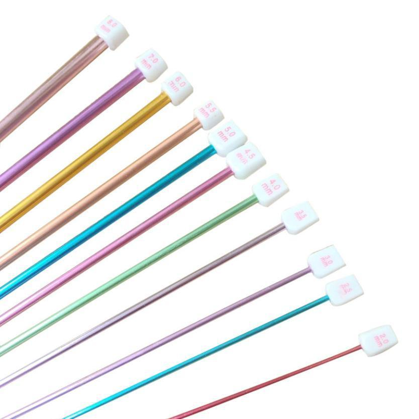 11 Crochet Hooks, Assorted Colours and Sizes