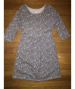 * Old Navy navy and pink heart print knit fit and flare jersey dress XL 14 - $7.92