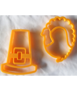 Thanksgiving Cookie Cutters Crafts XL Pilgrims Hat Turkey Set of 2 Free Shipping - €8,42 EUR