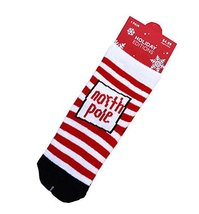 Set of 4 Christmas Theme Baby Socks Lovely Stripes Cotton Winter Baby Socks