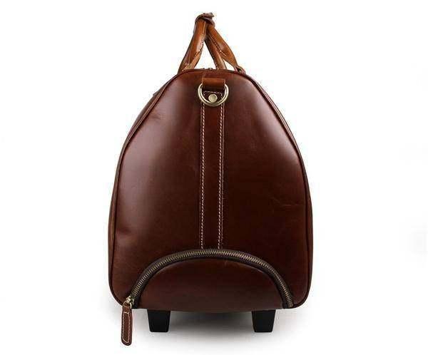On Sale, Handmade Vintage Full Grain Leather Travel Bag, Duffel Bag, Holdall Lug image 3