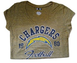 Nfl Womens Jr. V-Neck Tee Chargers Of Fi Cially Lis Nwt Xl - $15.99