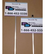 2 - REFLECTIVE DDS SECURITY YARD SIGNS Mounted with STAKES - $15.99