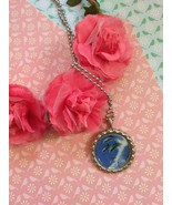 Jumping Dolphins Bottle Cap Necklace - $4.00