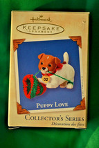 2002 Hallmark Cards Puppy Love12 Series Christmas Decoration Keepsake Or... - $9.41