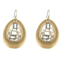 Alexis Bittar Brutalist Gold Lucite Crystal 14k Gold Plated Drop Earring... - £129.29 GBP
