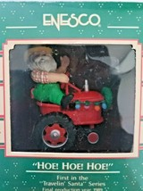 """Vitnage Enesco Christmas Ornament """"HOE!HOE!HOE!"""" Santa on Tractor 1989 - $22.99"""
