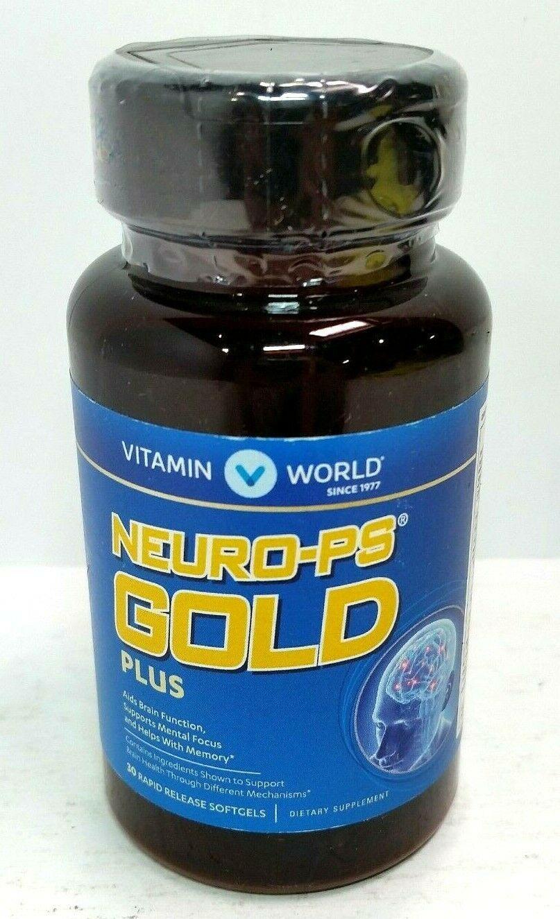 Vitamin World NeuroClear Gold Plus 30 rapid release softgels EXP 11/19