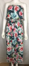 Plum Pretty Sugar Anthropologie Women's Maxi Dress One Size Blue Floral New - $50.28