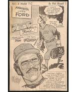 Dan Ford DISCO Dan Minnesota Baseball Sports Phil Bissell Cartoon Newspa... - $10.99