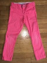 * arizona jean company coral twill skinny pants bottoms 7 girls - $5.94