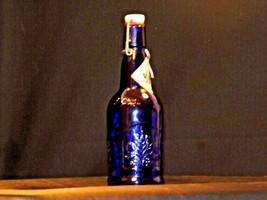 Blue Cobalt Bottle with Porcelain Swing Little John's Kansas City KS AA19-1570 V