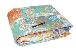 Indian Baby Girl Multi Color Patchwork Cotton Quilt Blanket Crib Handmad... - $34.29