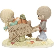 Precious Moments I Picked The Best One Couple with Wheelbarrow Bisque Po... - $89.43