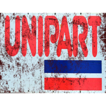UNIPART retro garage workshop metal wall sign plaque - $8.59