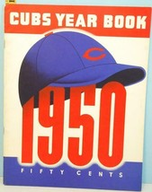 1950 Chicago Cubs Baseball Yearbook Wrigley Field Hank Sauer Van Der Mee... - $44.55