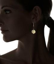 Cristina V.24K Plaqué Or Long Feuille Boucles D'Oreilles Pendantes Nwt image 2