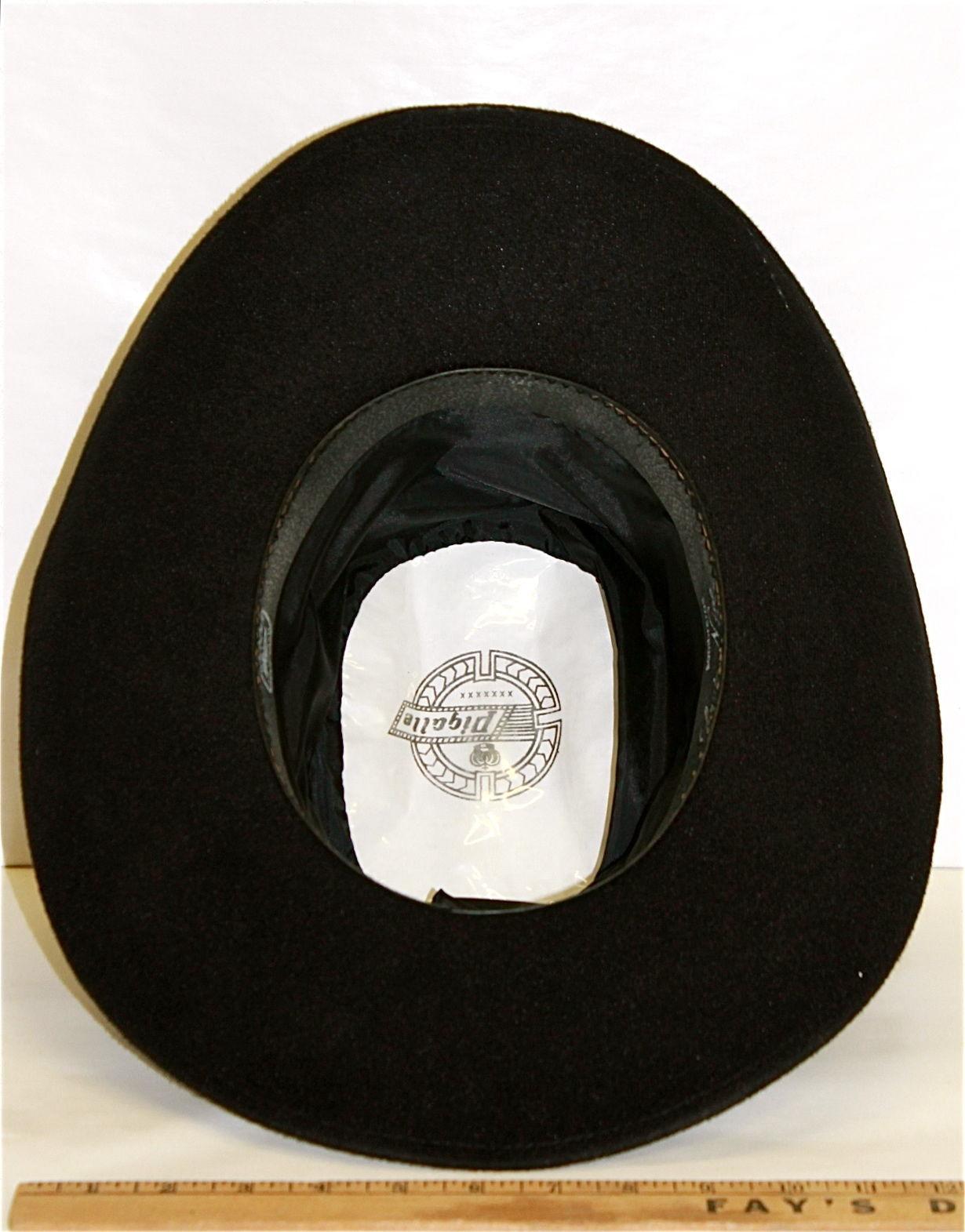 Men s Black Western Cowboy Hat Pigalle Santo Nino Sombrero Mexico Felt Lg 7  3 8 a3e56ee5be11