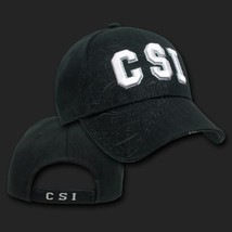 Csi Crime Scene Police Shadow Black Embroidered 3D Hat Cap - $31.58