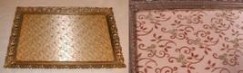 vintage Vanity Tray  Gilt Metal  Glass Ornate - $70.00