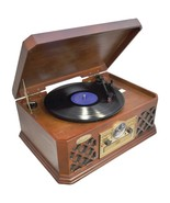 Pyle Home PTCD4BT Retro Style Turntable with Bluetooth CD Player & Casse... - $188.40