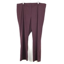 Lane Bryant Womens Plus Size 26 Bootcut Dress Pants Maroon Stretch Fit NEW - $32.71