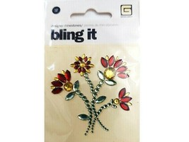 BasicGrey Bling It Designer Rhinestone Flower Sticker #BLI-2287