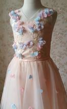 Flower Girl Dress, Sleeveless High Waist Girl Dress Princess Dress - Blush Pink  image 8
