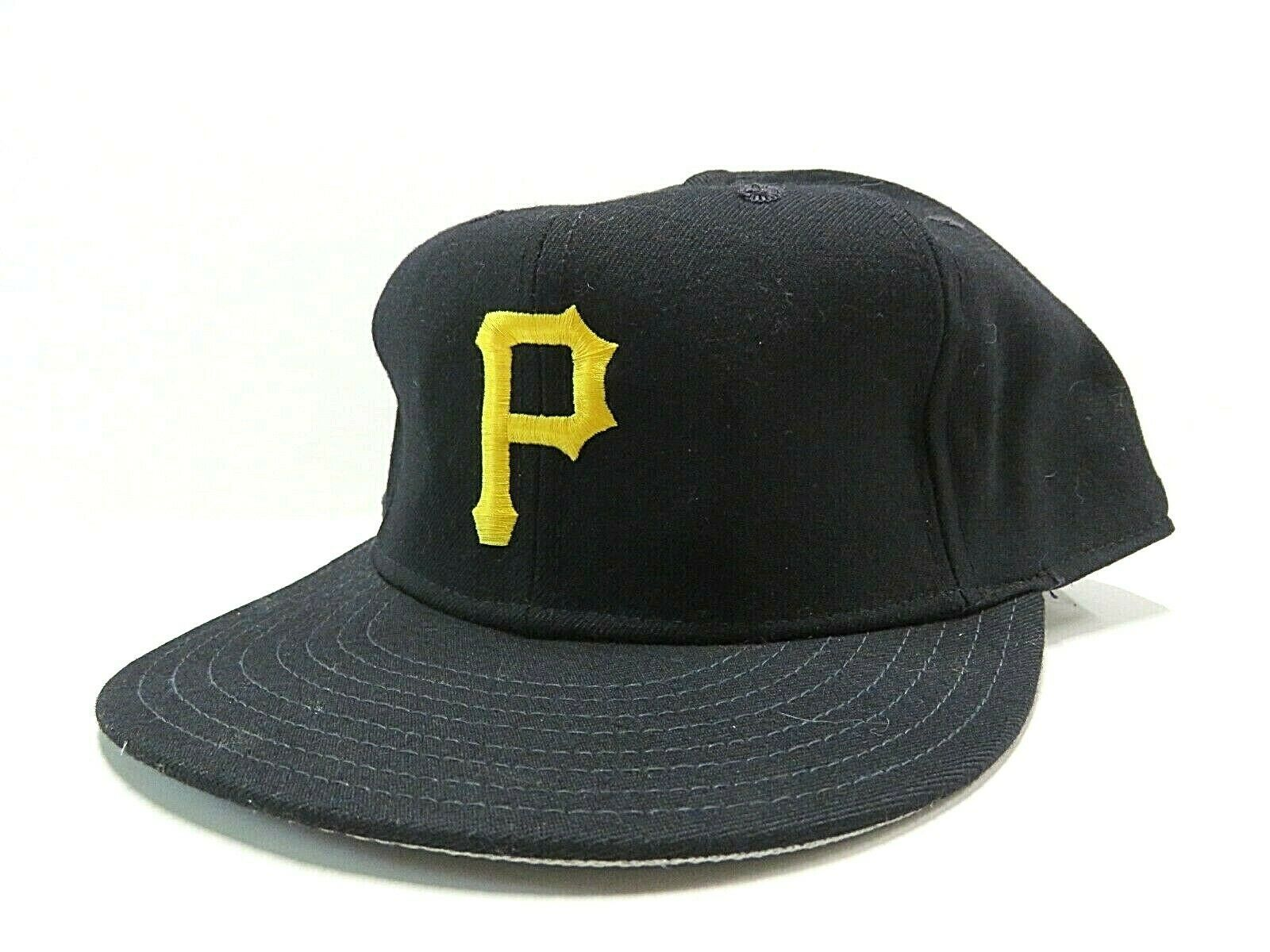 Vtg New Era Pittsburgh Pirates MLB Baseball Fitted Hat Size 7 3/4 Made in USA