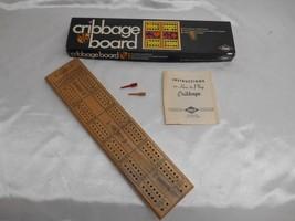 Old Vtg 1968 E.S. Lowe CRIBBAGE GAME Wood Gameboard No. 1503 - $19.79
